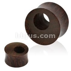 "PAIR-Wood Arang w//Bone Hibiscus Saddle Flare Ear Tunnels 12mm//1//2/"" Gauge Body Je"
