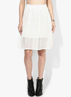 Buy Miss Selfridge White Flared Skirt Online - 2792536 - Jabong Best Online Fashion Stores, Lakme Fashion Week, Buy Shoes, Flare Skirt, Shoe Brands, Miss Selfridge, India, Clothes For Women, Skirts