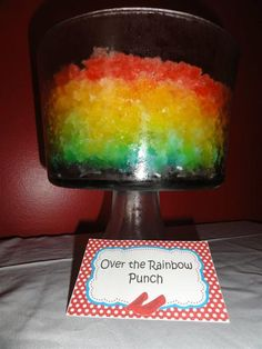 Over the Rainbow punch/Wizard of Oz party