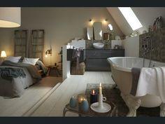Diaporama : Osez la salle de bains sous les toits