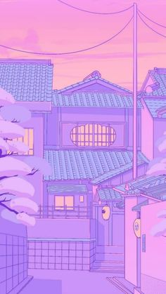 Anime Backgrounds Wallpapers, Anime Scenery Wallpaper, Cute Wallpaper Backgrounds, Pretty Wallpapers, Animes Wallpapers, Cute Pastel Wallpaper, Purple Wallpaper, Kawaii Wallpaper, Cartoon Wallpaper