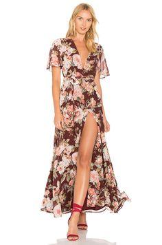 f4523105e7be Privacy Please Plaza Kimono Dress in Dark Sienna New Designer Dresses