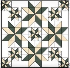 Faceted star quilt Looks dramatic but not complicated Big Block Quilts, Star Quilt Blocks, Star Quilts, Mini Quilts, Barn Quilt Designs, Barn Quilt Patterns, Quilting Designs, Half Square Triangle Quilts, Square Quilt