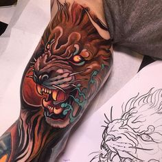 Carrying on this sleeve on my homeboy mikey! Thanks for the trust! American Traditional, Neo Traditional Tattoo, Neo Tattoo, Bicep Tattoo, Tattoo Art, Tattoo Flash, Great Tattoos, Trendy Tattoos, Tattoos For Guys
