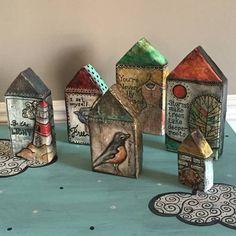 Papier mache affirmation houses! - MORE ART, LESS CRAFT