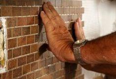 Quick and easy tile backsplash.