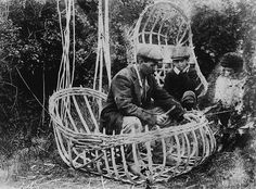 coracle making (museum of wales) | Just downstream from the Ironbridge - Coracle Maker Eustace Rogers old Hut still stands