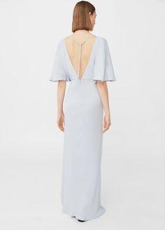 Slit long dress | MANGO