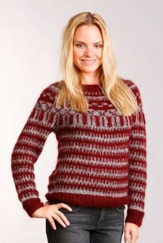 Sweater inspired by Isabel Marant - knitted in Kidsilk Haze and Purelife from Rowan