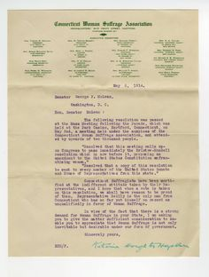 Read documents sent to Congress and others in support of women's suffrage – from individuals, organizations, and suffrage associations around the country.
