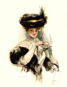 """1909 Harrison Fisher, 1st Edition, """"American Beauties"""", Teacup Times"""
