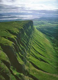 Benbulbin or Ben Bulben or Benbulben, a large rock formation, Sligo, Ireland