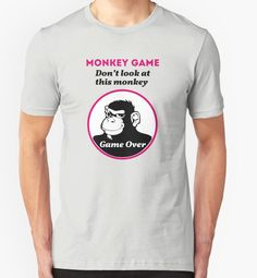 MONKEY GAME, by visual artist Gianni A. Sarcone. Don't look at this monkey… Game over! Available from: http://www.redbubble.com/people/giannisarcone/works/21150459 #monkey #game #chickengame #dontlookat #funny #gag #giannisarcone