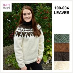 100-004 LEAVES The 100, Turtle Neck, Leaves, Pullover, Sweaters, Black, Design, Fashion, Threading