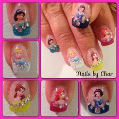 Disney princess nails by Char :)