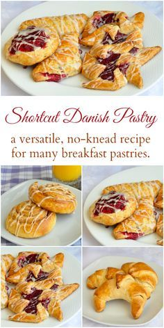 Danish Pastry - the easy way to make Fruit Danish & more.  Get the shortcut recipe for danish pastry dough that doesn't even have to be kneaded. Use it for Fruit Danish, Pinwheels, Turnovers, Crescents and more. Perfect for special occasion mornings like Easter and Mothers Day.
