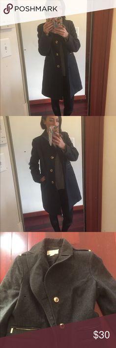 Michael Kors military style jacket MIchael Kors military style jacket. Gold buttons zippers on pocket. Size small. MICHAEL Michael Kors Jackets & Coats