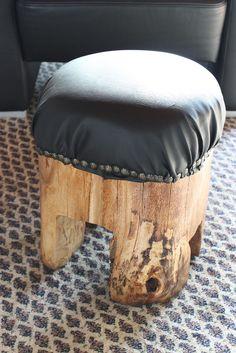 DIY Baumstammhocker aus massiver Buche