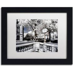 Trademark Fine Art Another Look at Paris Xii Canvas Art by Philippe Hugonnard, White Matte, Black Frame, Size: 11 x 14