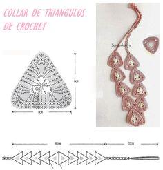 Patrones para Crochet: Collar de Triangulos de Crochet