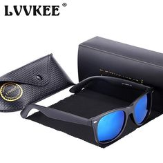 0e0c5f36ebc Hot LVVKEE 2017 Brand Fashion Men Polarized Sunglasses Women Outdoors  Driving Sun Glasses Retro Justin uv400