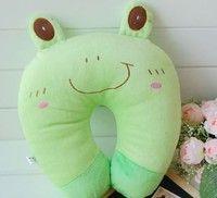 Wish | Baby Cartoon U-shaped Pillow Neck Car Seat Travel Neck Rest Soft Plush Toy Pillow Frog