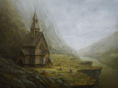 Norwegian church by Alexandra Tretyakova