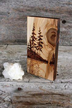 La lueur du soleil bois brûlé Art bloc