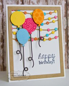 I wanted to share a card I made for this month's Taylored Expressions Pinterest Inspiration Project:) You can find so many inspiring projects in the TE ... Bday Cards, Birthday Cards For Friends, Happy Birthday Cards, Birthday Gifts, Homemade Birthday Cards, Homemade Cards, Cricut Cards, Birthday Balloons, Paper Cards