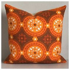 Vintage-Retro-70s-Orange-Graphic-Fabric-Cushion-Cover