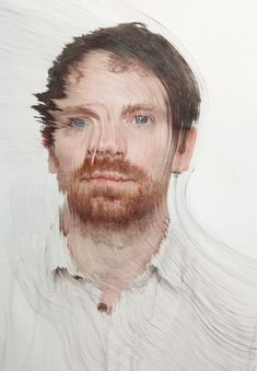 Time lapse Portraits Layered and Cut to Reveal the Passage of Time sculpture portraits photography paper art