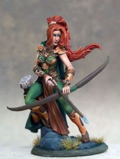 Dark Sword - Visions in Fantasy - Female Ranger with Bow
