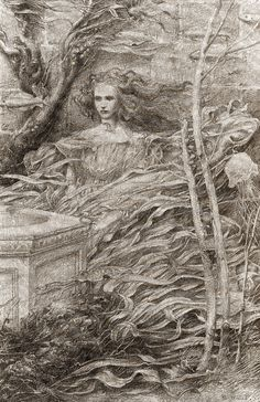 Alan Lee The Princess at the Well  (off 'Castles')