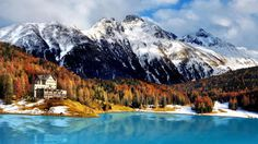 """This Swiss resort town, famous for its """"champagne climate,"""" is ideal for cosmopolitan couples seeking an alpine adventure. Picture a day skiing amongst snow-capped peaks, followed by an equally heart-pounding evening snuggled up on a horse-drawn carriage ride along the frozen lake."""