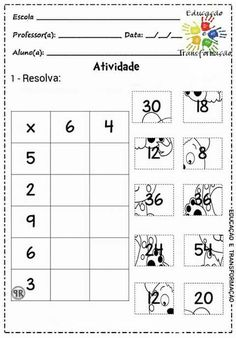 Multiplication Activities, Math Worksheets, Math Activities, 2nd Grade Math, Math Class, Math Sheets, Montessori Math, Primary Maths, Simple Math