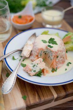 Fischterrine mit weißer Buttersauce (Terrine de poissons sauce au beurre blanc) backen top-10 fisch hauptspeisen rezepte vorspeisen Französisch Kochen by Aurélie Bastian