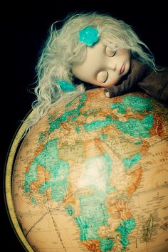 Blythe globe- how I feel about traveling the world.