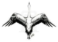 deviantART: More Like Chinese Crane Tattoo by LuisaRosati