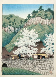 Kawase Hasui (1883-1957): Selection of Scenes from Japan: Kakize, Bungo, woodblock print, ca. 1923. SOLD.