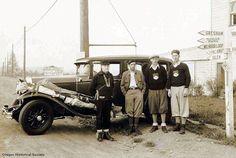 Ski ascent party en route to Mount Hood, Oregon - 1931