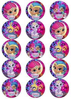 SHIMMER AND SHINE V2 EDIBLE WAFER PAPER TOPPERS CUPCAKES CAKE POPS MUFFINS in Crafts, Cake Decorating | eBay