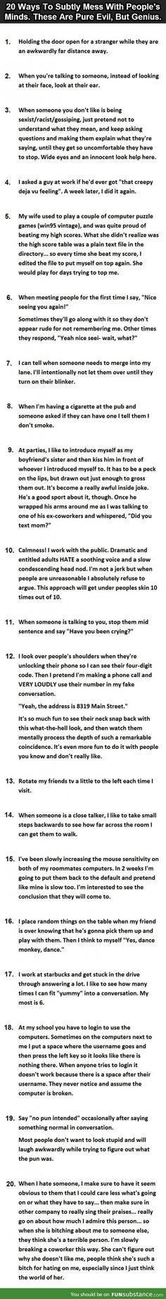 20 ways to mess with people without them knowing
