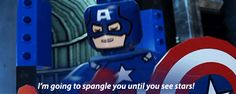 """""""Captain America's Ultimate pick up line."""""""
