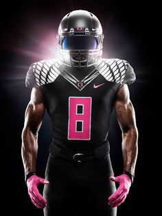 United We Fight - Oregon Ducks 2014 Breast Cancer Awareness Uniforms