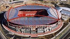 Home of SF Benfica one of the most successful teams in the Portugese top flight: Soccer Stadium, Football Stadiums, Football Soccer, Madrid, Association Football, Juventus Fc, European Football, Portuguese, Continents