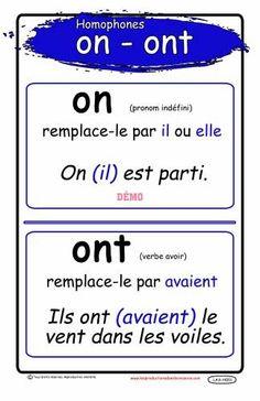 Homophones : on // ont