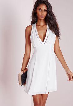 Cornelli dress white stuff in back
