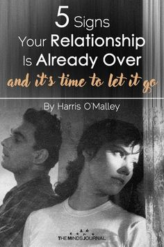 5 Signs Your Relationship Is Already Over and It's Time To Let Go – themindsjournal.c… - 5 Signs Your Relationship Is Already Over and It's Time To Let Go Relationship Challenge, Best Relationship Advice, Ending A Relationship, Long Lasting Relationship, Marriage Tips, Strong Relationship, Relationship Problems, Failing Marriage Signs, Marriage Over Signs