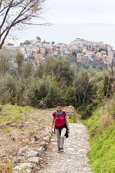 The quiet village of Corniglia in the distance