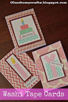 Washi Tape Cards {Craft}